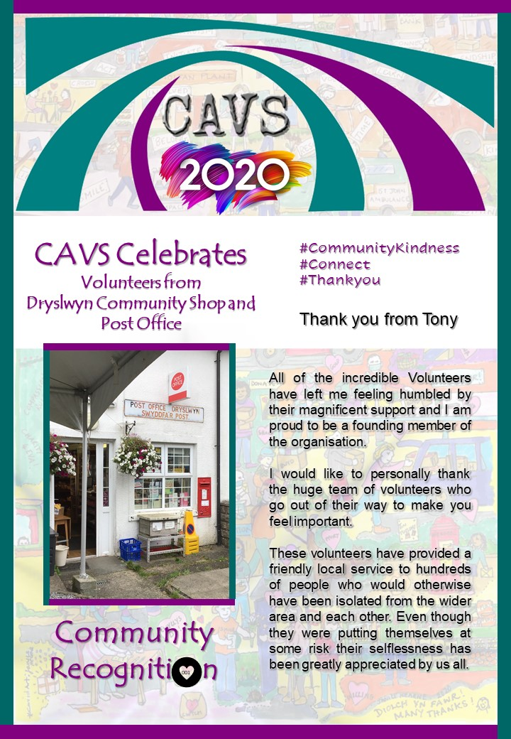 Volunteers from Dryslwyn Community Shop and Post Office